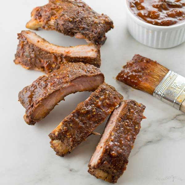Slow Cooker Ribs with Bourbon BBQ Sauce
