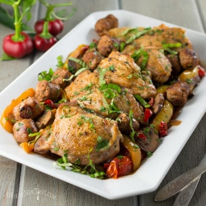 Chicken Scarpariello with Cherry Peppers